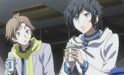 Hibiki and Daichi discussing