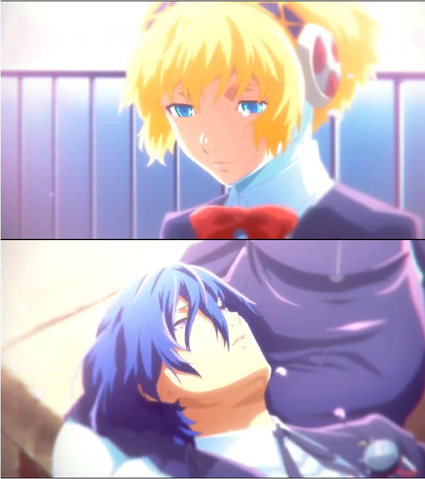 File:Persona 3 The Movie Makoto and Aegis.png