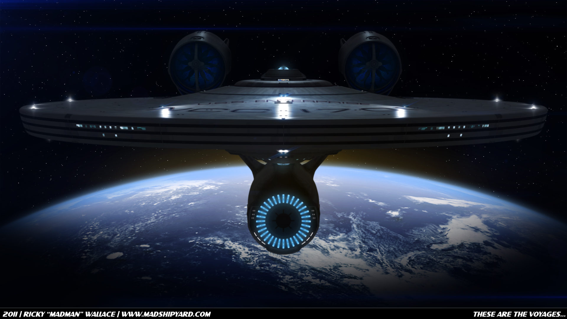 Uss Vengeance Wallpaper The USS Enterprise departing