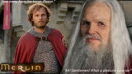 'Old' Merlin and Leon