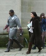 Adetomiwa Edun and Janet Montgomery Behind The Scenes Series 5