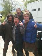 Eoin Macken Tom Hopper Bradley James and A Fan Behind The Scenes Series 5