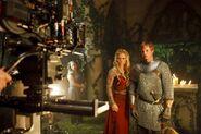 Emilia Fox and Bradley James Behind The Scenes Series 2