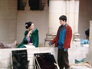 Katie McGrath and Colin Morgan Behind The Scenes Series 2