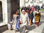 Angel Coulby and Richard Wilson Behind The Scenes Series 4