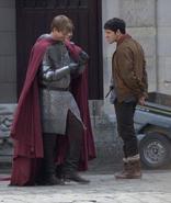Bradley James Colin Morgan and Alexander Vlahos Behind The Scenes Series 5