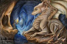 Merlin and the Dragon by elessthehedgecat