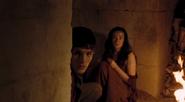 Merlin hiding with Freya