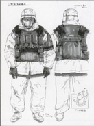 Armored Artic Soldier concept art for MGS TTS