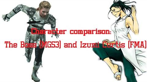 Character comparison The Boss (MGS3) and Izumi Curtis (FMA)