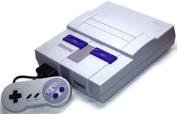 Оригинальная консоль SNES для североамериканского рынка (около 1991 г.)