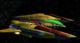 Samus' Ship in space