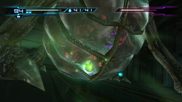 Файл:Power Bomb Morph Ball Queen Metroid stomach Room MW Bioweapon Research Centre HD.jpg