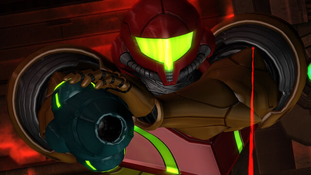 File:Samus targeted laser sight Anthony Plasma Gun Geothermal Power Plant Pyrosphere HD.jpg