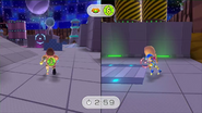 Battle Mii demo split-screen (no Wii U GamePad)
