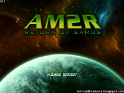 Am2r title screen
