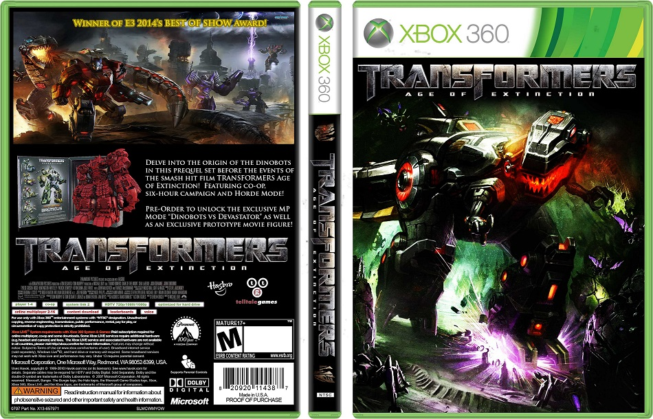 Transformers Age of Extinction Xbox 360 of Extinction Xbox 360