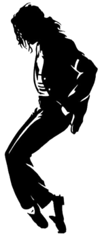 Michael Jackson black and white poster small