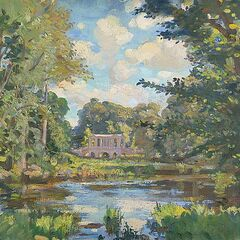 Painting of a bridge in Wilton