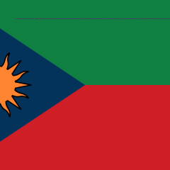 The Flag of the Democratic Extraterrestrial Republic of Nedland, used in January 2015. It is unique because of the binary code in tiny font at the top of the flag that says,
