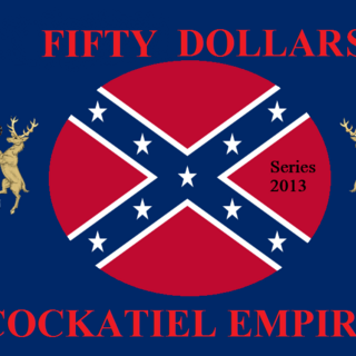 Fifty Cockatiel Dollars (Series 2013)