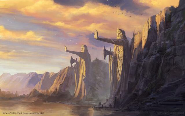 File:The argonath lord of the rings tcg by jcbarquet-d84gqh8.jpg