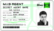 ID card 1 - Tom Tupper