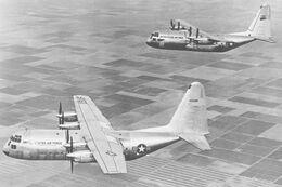 YC-130s formation usaf