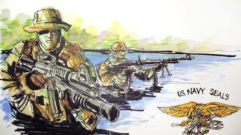 Military Series U.S. Navy Seals TIme Lapse Drawing