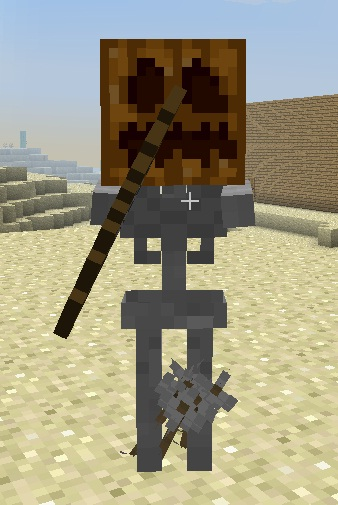 how to get a skeleton head in minecraft