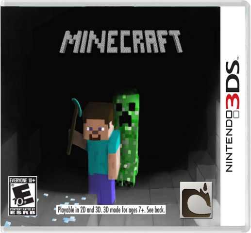 File:Minecraft 3ds cover by gamerk3n-d4rem73.png