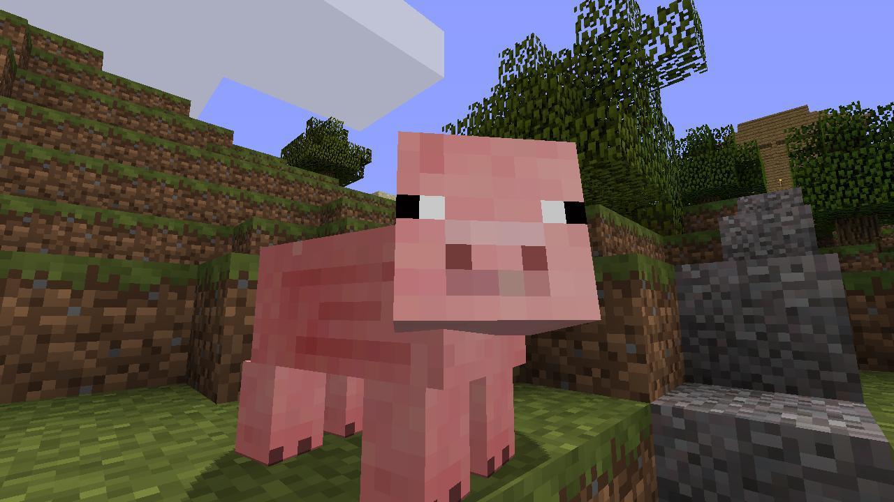 Minecraft Pig Face Full resolution