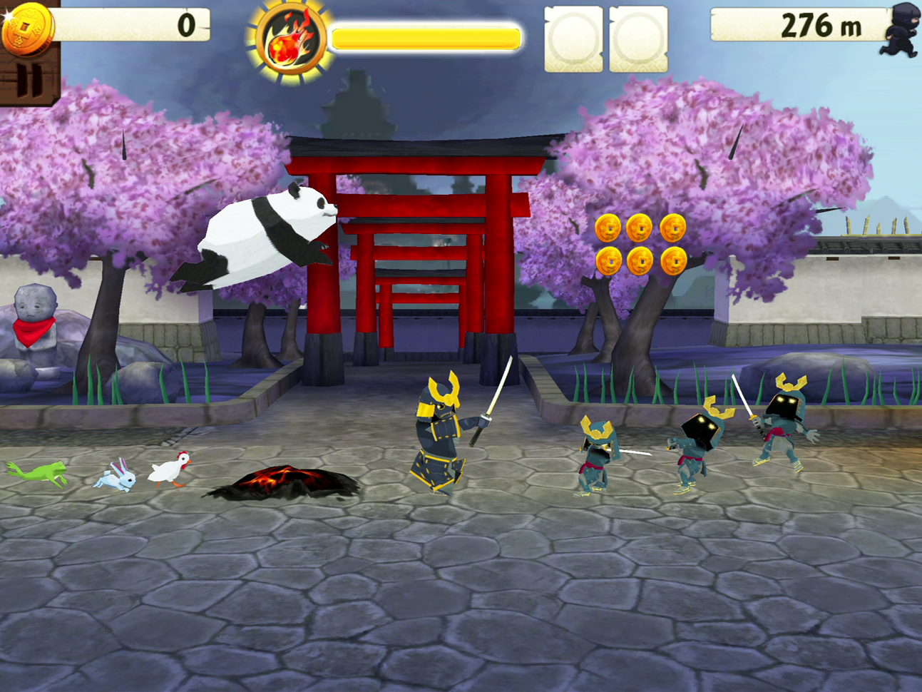 Escape The Ninja Pandas Mini Ninjas Using a Panda