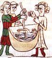 Gottesurteil Wasserprobe Sachsenspiegel, Landrecht III,21 § 2.jpg