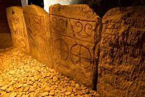Grab von Kivik Steineinfassung 02