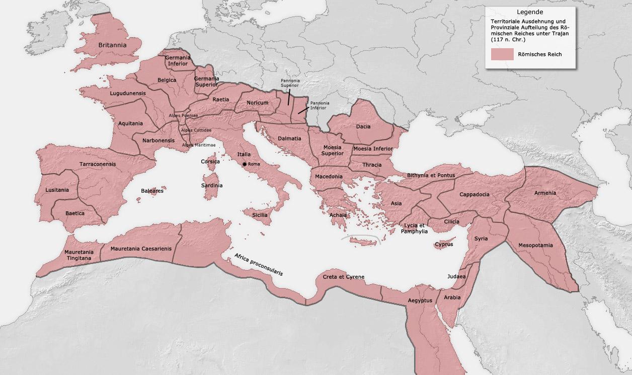 Größte Ausdehnung Römisches Reich