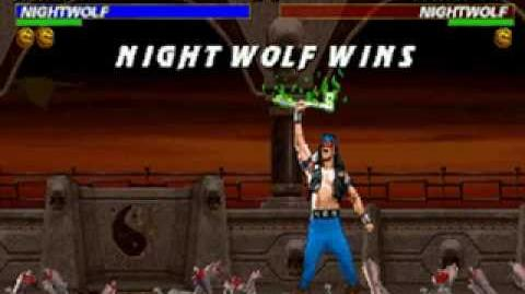 Mortal Kombat Trilogy - Brutality - Nightwolf