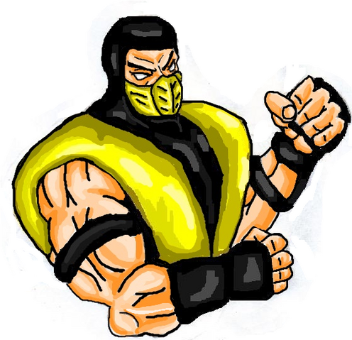 File:Mortal Kombat ll Arcade Art Scorpion.png