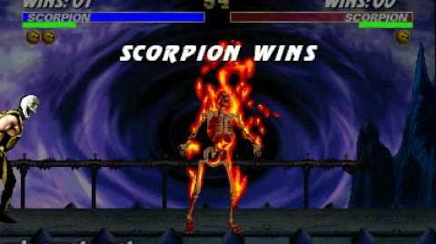Ultimate Mortal Kombat 3 - Fatality 1 - Scorpion-0