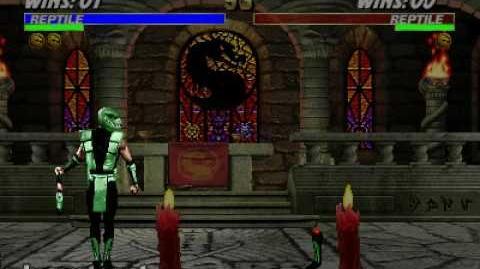 Ultimate Mortal Kombat 3 - Fatality 1 - Reptile
