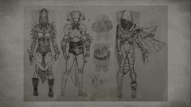 File:MKX D'vorah Concept Art 6.png