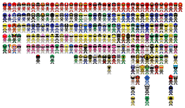 File:All super sentai a k a power rangers pixel art by miralupa-d2plajx.png