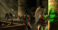 Queen Sindel & Jade in the Lost Tomb