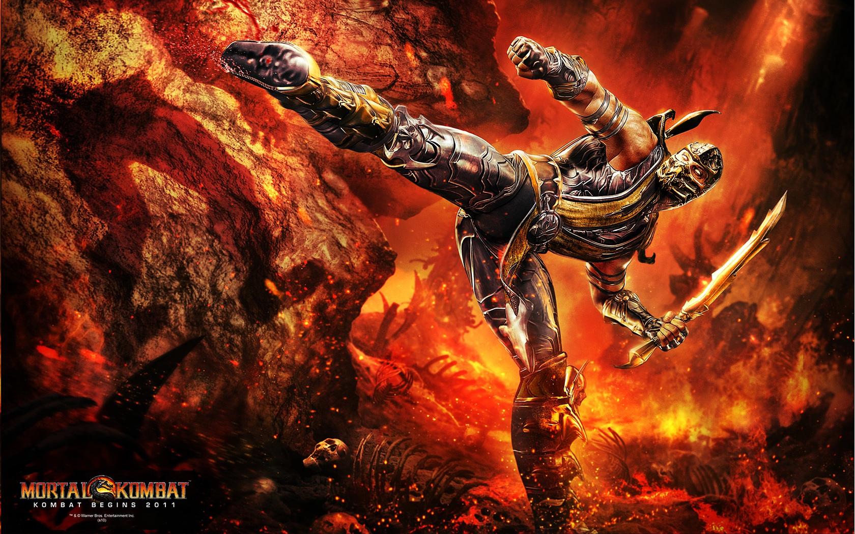 Image - Scorpion kicking your big fat ass.jpg | Mortal Kombat Wiki ...