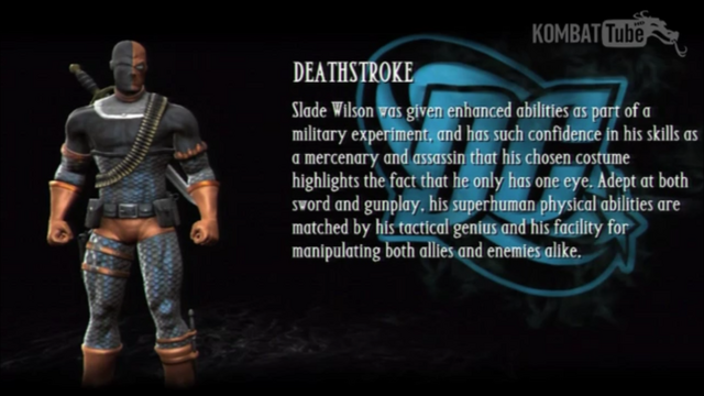 File:Deathstroke's Bio from Mortal Kombat vs DC Universe.png