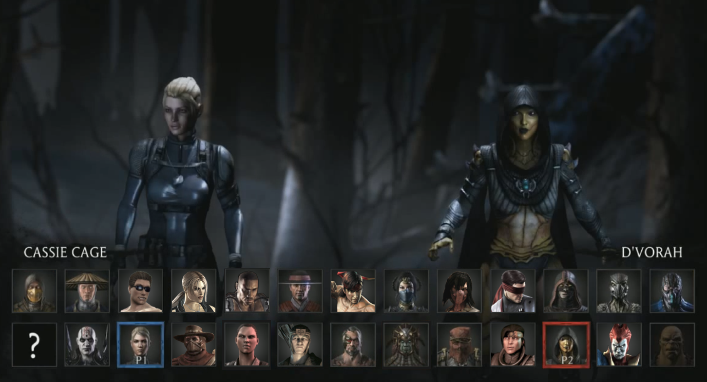 mortal kombat x characters list