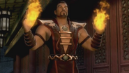Shang Tsung opens a portal for the Tarkatan