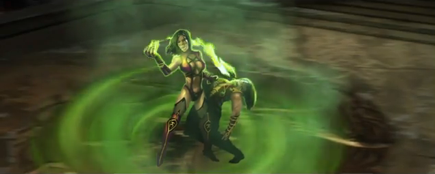 File:Mileena takes Shang Tsung's power.png
