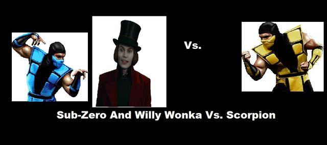 File:Mortal Kombat And Chocolate Factory Sub Zero And Willy Wonka Vs. Scorpion.jpg