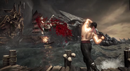 MKX Liu Kang knocking off Quan Chi Stage Brutality